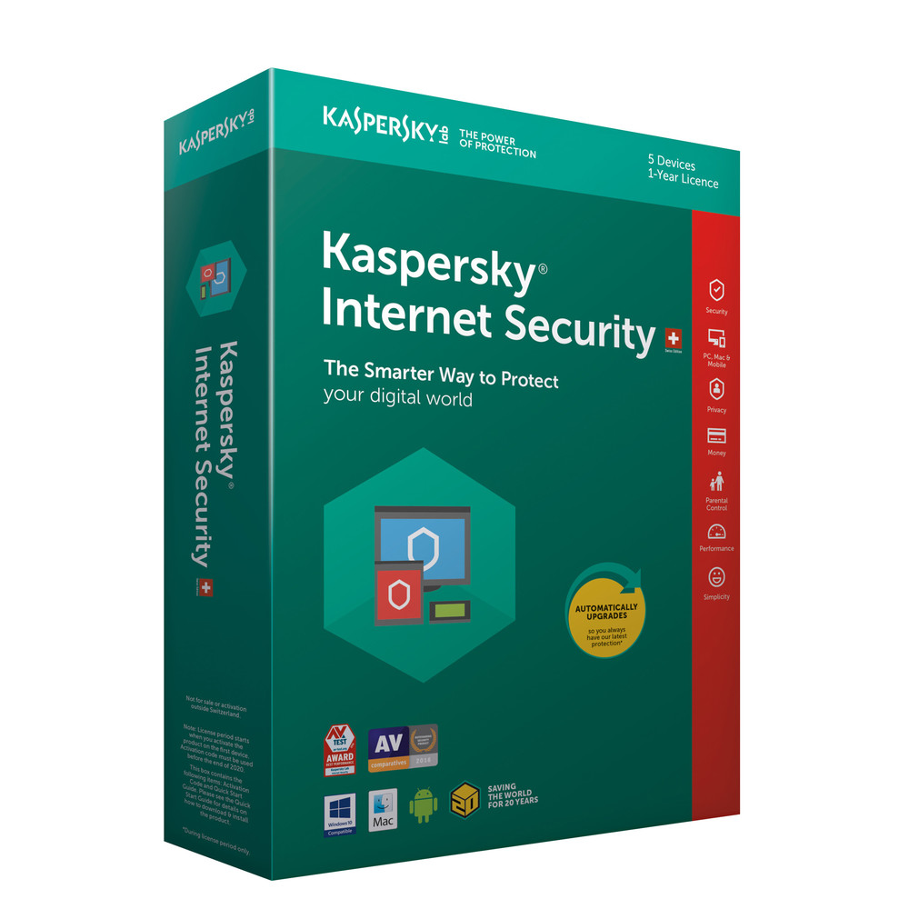 KASPERSKY Internet Security Swiss Edition 5 User für 1 Jahr