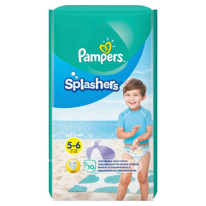 PAMPERS couches Splashers avec paquet de taille 5-6