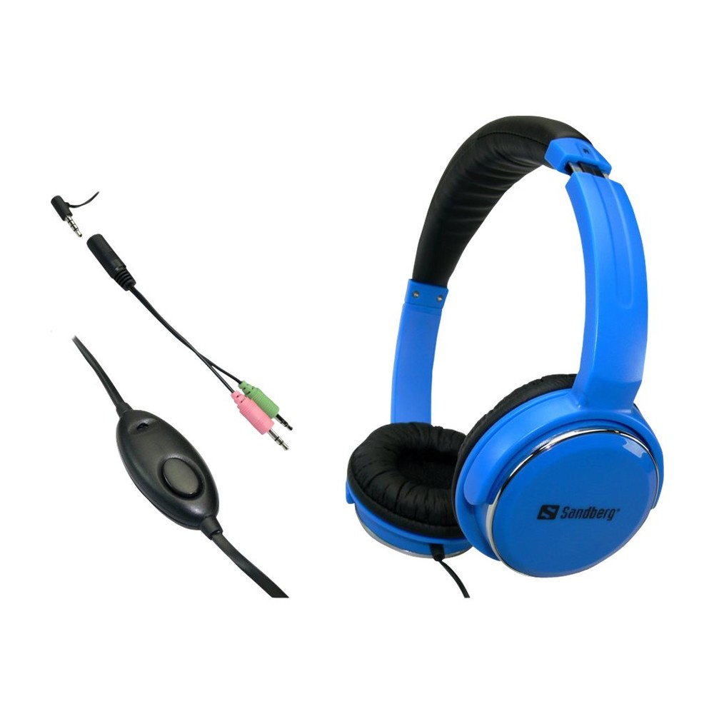 SANDBERG Over-Ear Kopfhörer Home'n Street Blue