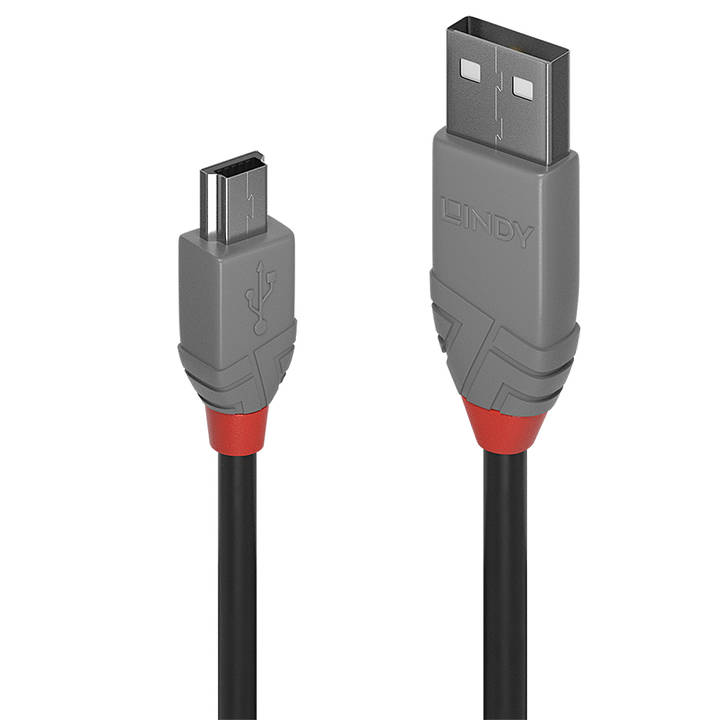 LINDY 2m USB 2.0 Type A to Mini-B Cable