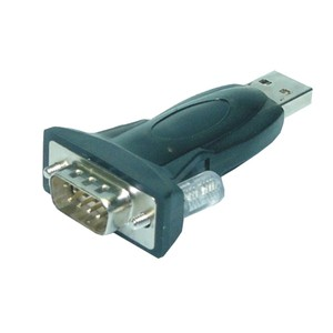 M-Cab USB 2.0 Stecker A zu Seriell (RS-232) Adapter, Black
