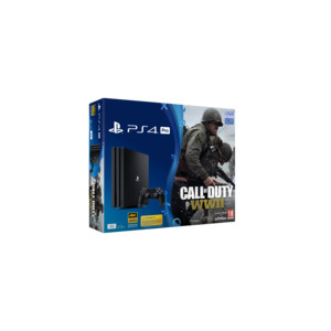 SONY Playstation 4 Pro 1 TB Jet Black inkl. Call of Duty: WWII7That's you! (Voucher) F