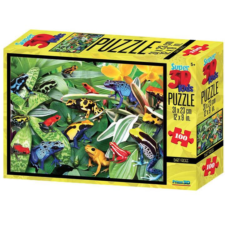 NATIONAL GEOGRAPHIC Frogs 3D Puzzle, 100 Stk.