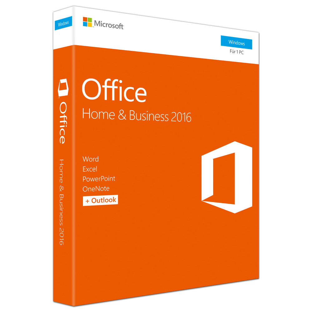 MICROSOFT Office Home and Business 2016 Box Pack