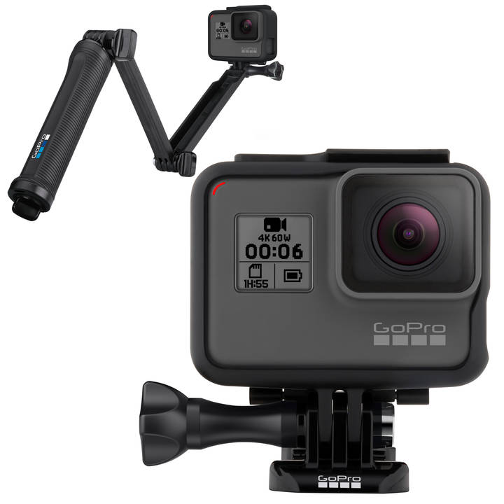 GOPRO Hero 6 Black + 3-Way Zubehör