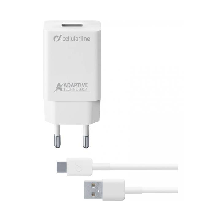 CELLULAR Fastcharger Carica Rete USB-C White