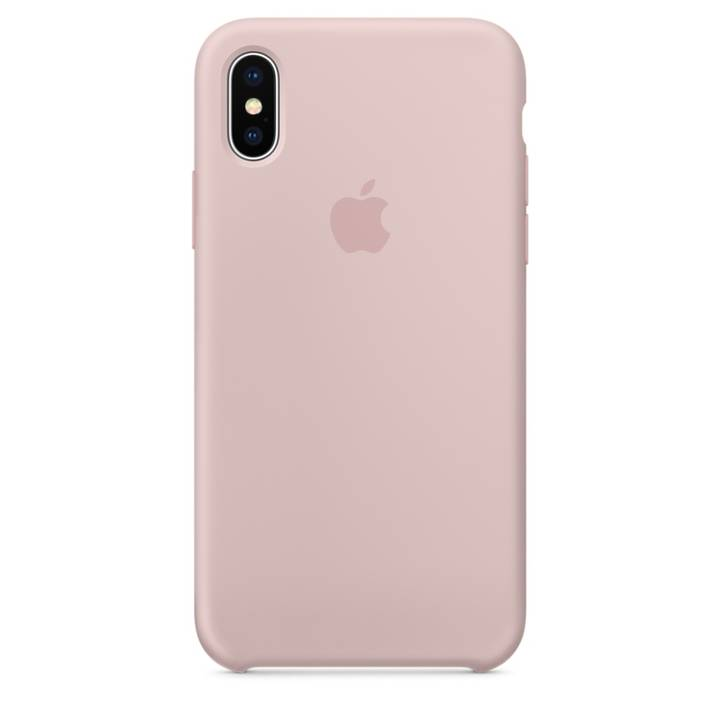 APPLE iPhone X Custodia in silicone Sand Pink