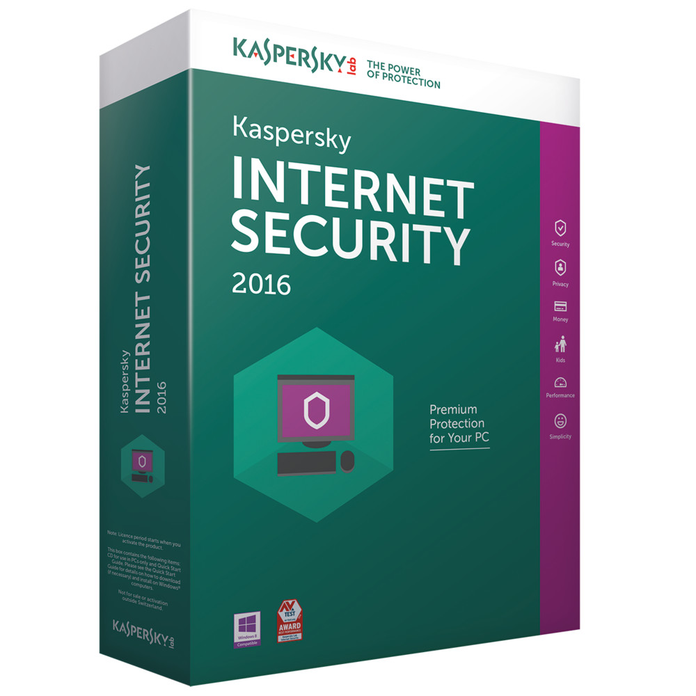 KASPERSKY Internet Security 2016 Swiss Edition upgrade