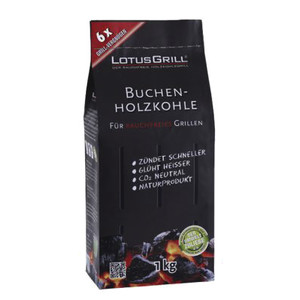 LOTUSGRILL Holzkohle Buche 1 kg