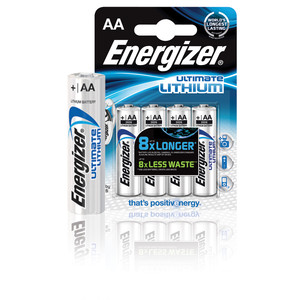 Energizer AA/L91 Ultimate Lithium 4-PACK