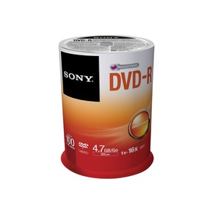SONY DVD-R 4,7 GB x100
