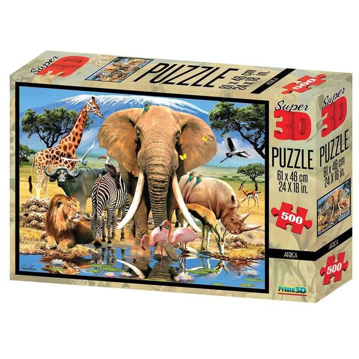 National Geo 3D Puzzle Afrika 500 Teile