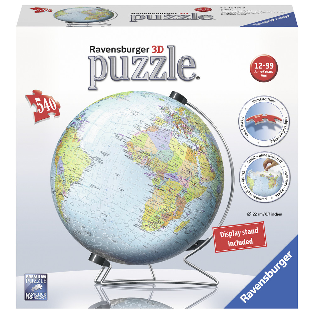 RAVENSBURGER The Earth 3D Puzzle, 540 Stk.