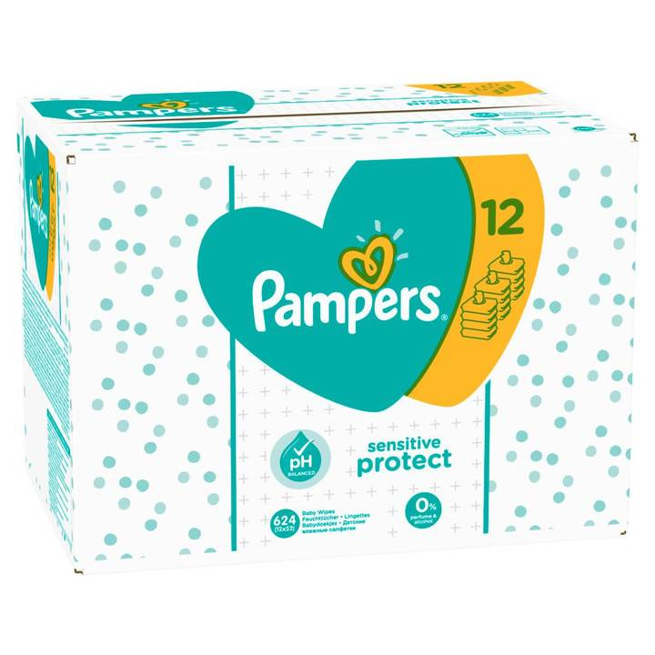 Pampers Feuchte Tücher Sensitive Gigapac