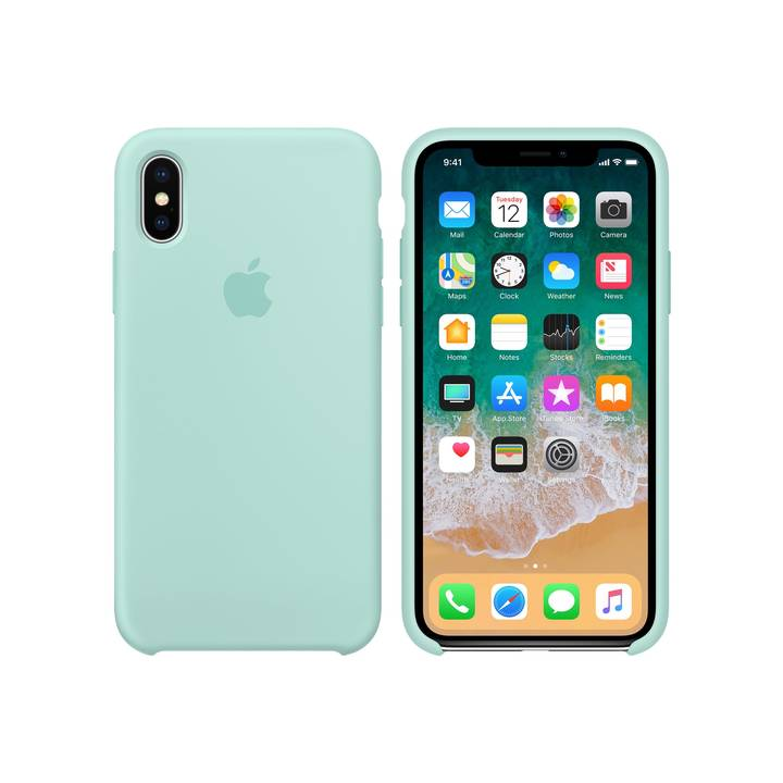 Apple iPhone X Silicone Case Marine Gree