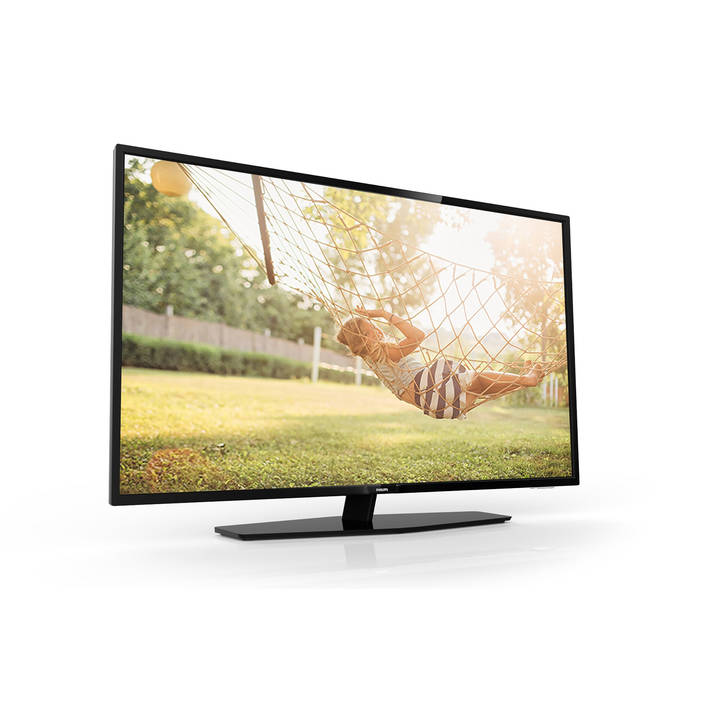 "43"" Professional TV, HEVC, RF, black"
