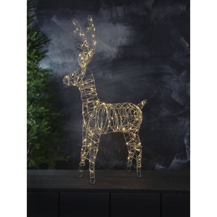 STAR TRADING LED-Weihnachtsfigur Rentier Sarve, 150 LED