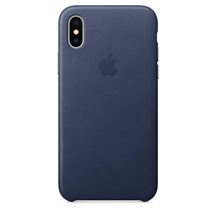APPLE iPhone X Leder Case Mitternachtsblau