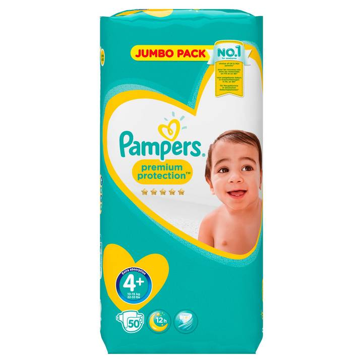 PAMPERS Windeln Premium Protection Jumbopack Grösse 4+