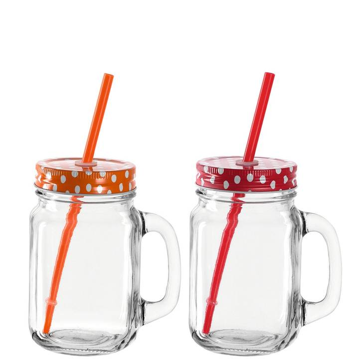 Montana Trinkglas to Go 2er Set orange,