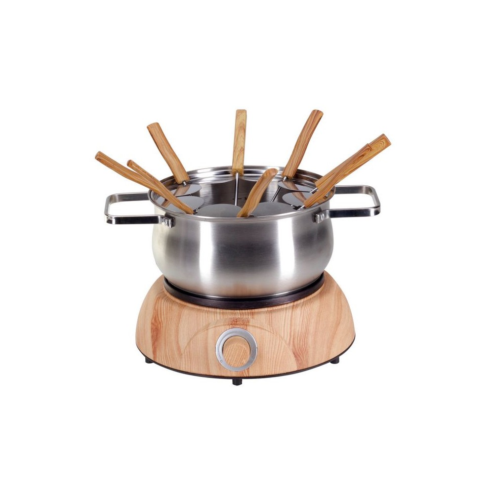 NOUVEL Fleischfondue-Set Wood Inox