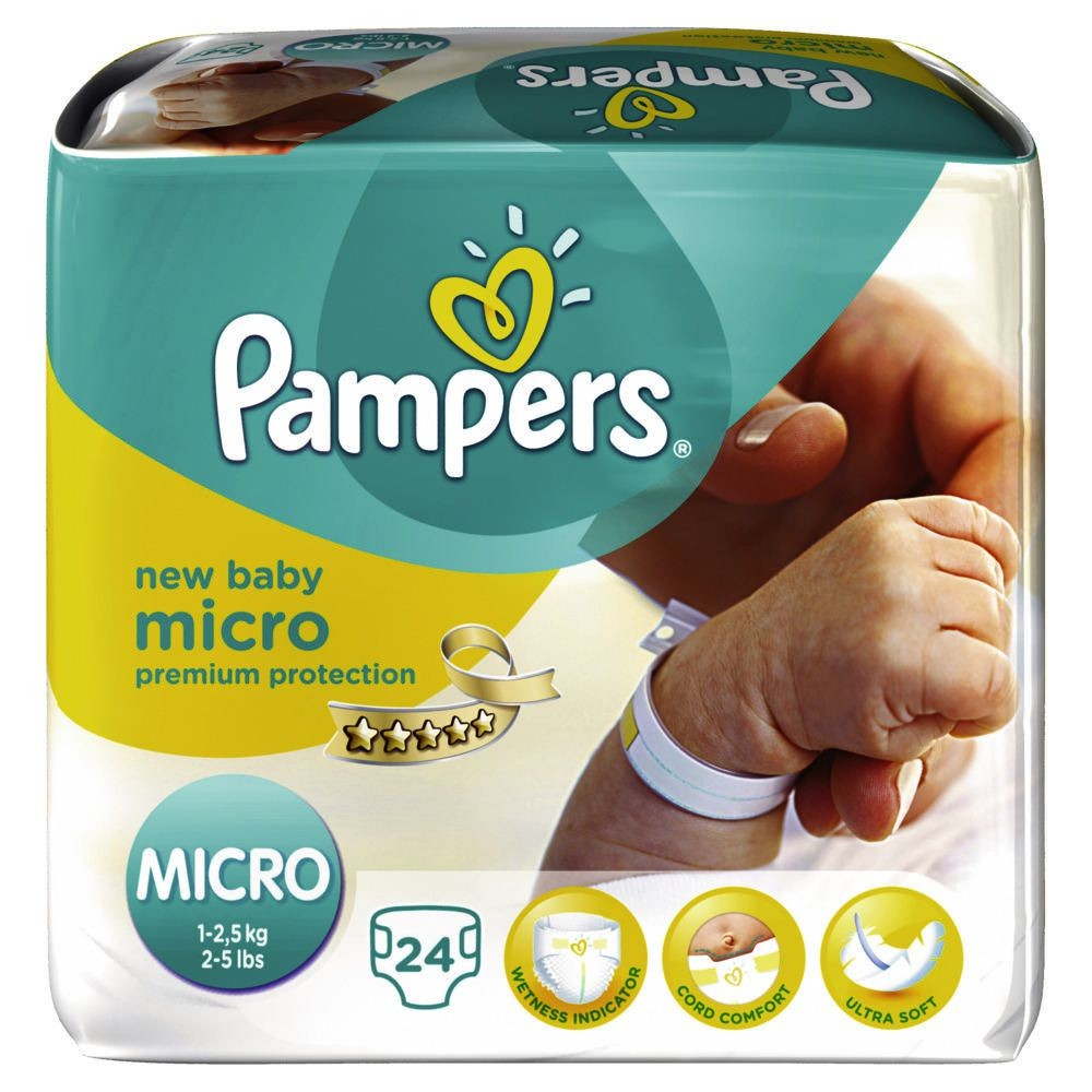 PAMPERS Windeln New Baby Micro Gr. 0