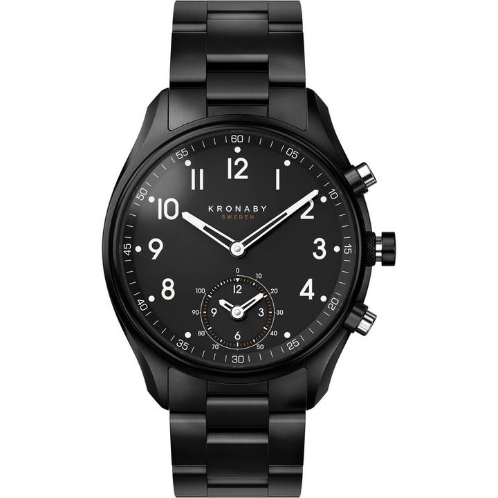 KRONABY Apex 43 mm Black / Black Steel
