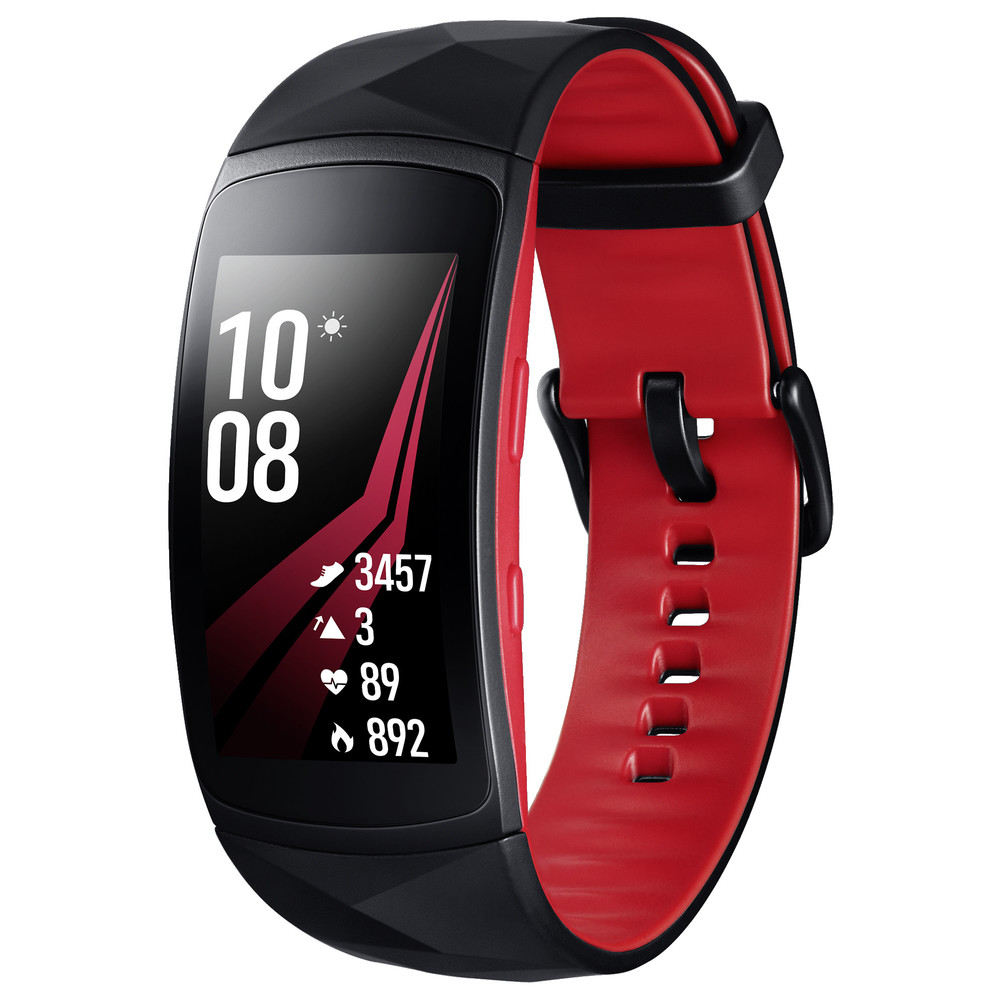 SAMSUNG Activity-Tracker Gear Fit 2 Pro Red S