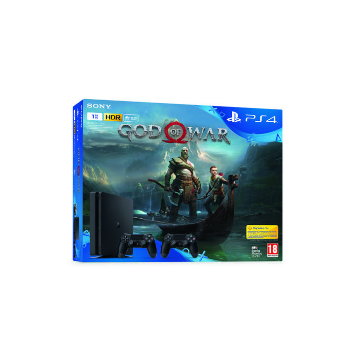 SONY Playstation 4 Slim 1 TB Jet Black inkl. God of War PEGI 18+ (DE/FR/IT)