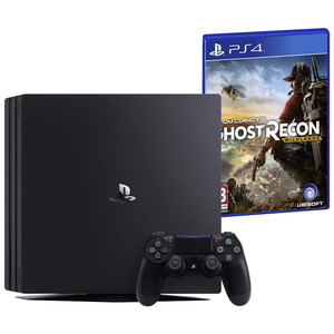 SONY Playstation 4 Pro 1 TB Jet Black inkl. Tom Clancy's: Ghost Recon Wildlands