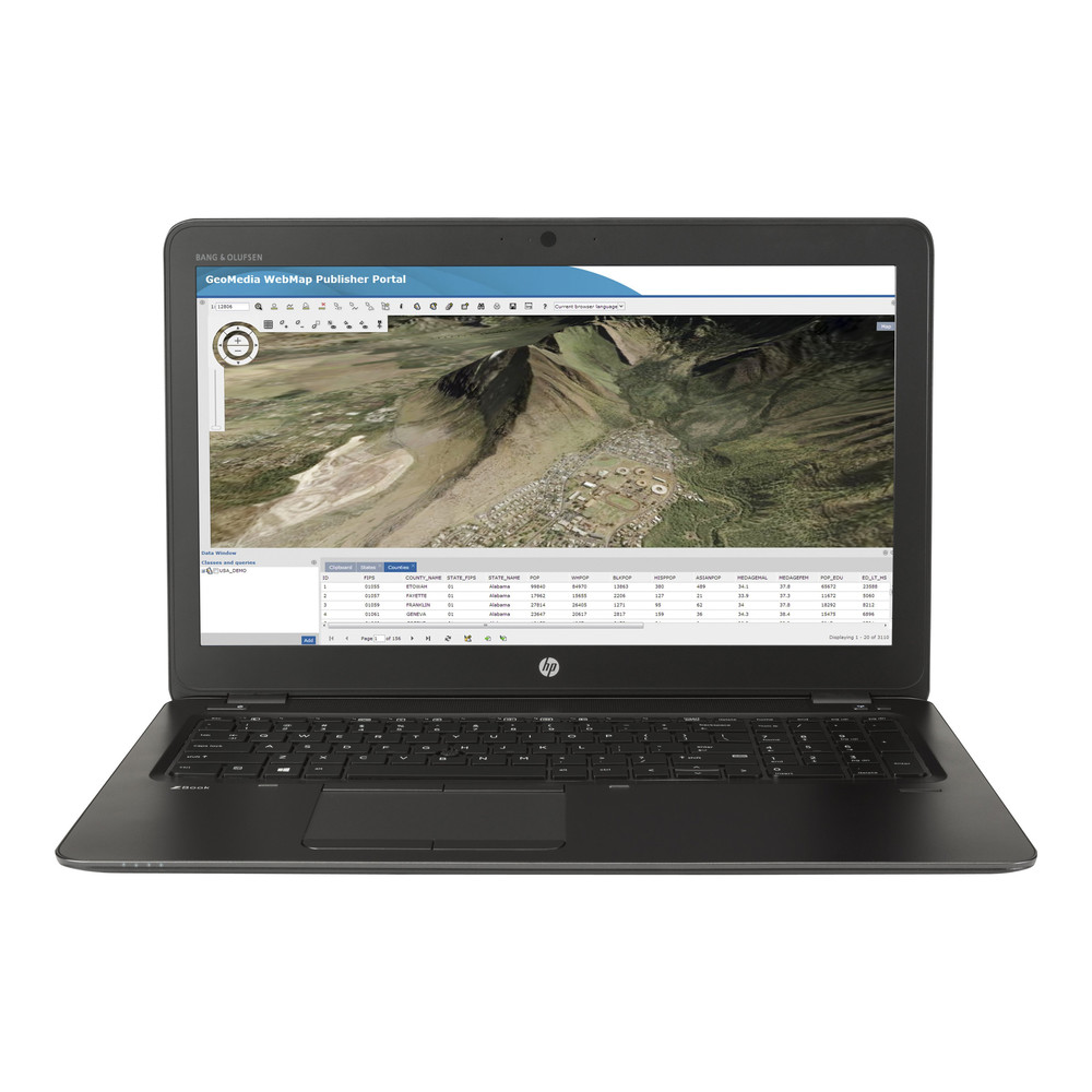 HP Zbook 15u G4 i7-7500U 16GB 256GB