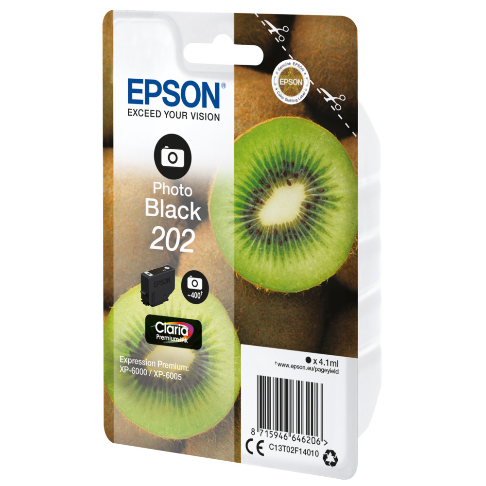 EPSON Singlepack Photo Black 202 Kiwi Cl