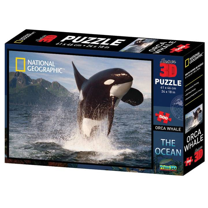 National Geo 3D Puzzle Orca 500 Teile