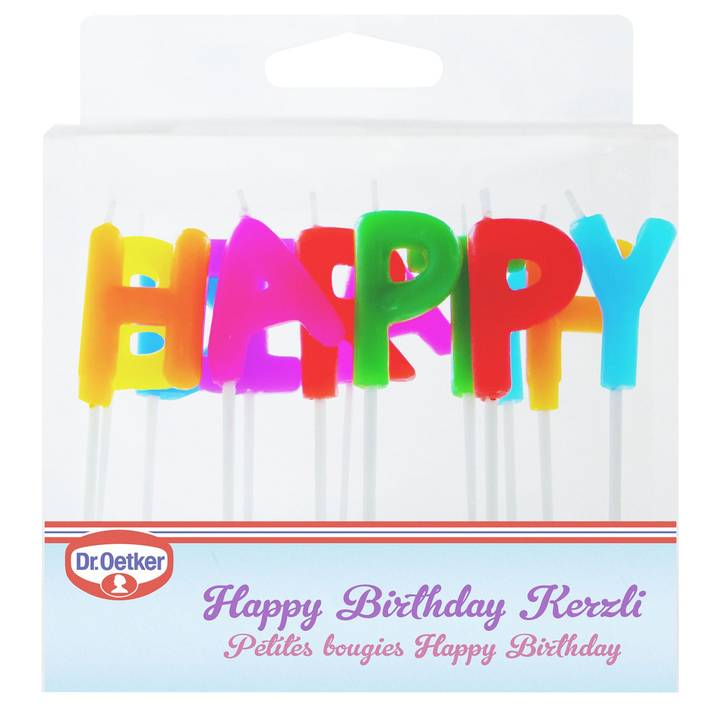 Dr. Oetker Kerzen Happy Birthday Inhalt: