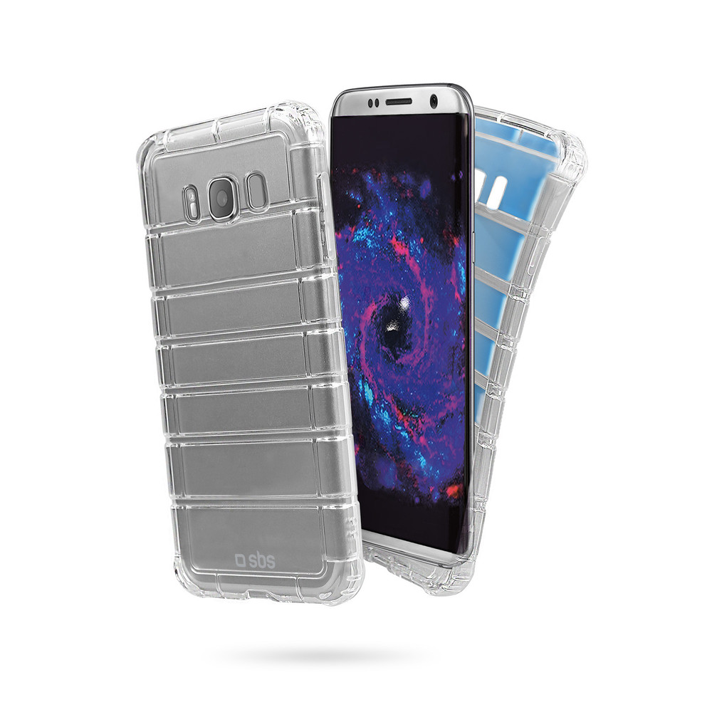 SBS Backcover Air Impact für Galaxy S8 Clear