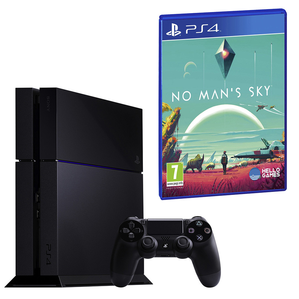 SONY Playstation 4 New Black C-Chassis 1 TB Bundle inkl. No Man's Sky