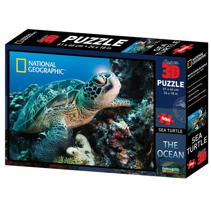 NATIONAL GEOGRAPHIC Turtle 3D Puzzle, 500 pcs.