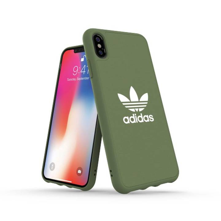 ADIDAS Back Cover Moulded Canvas iPhone XS Max, Olive
