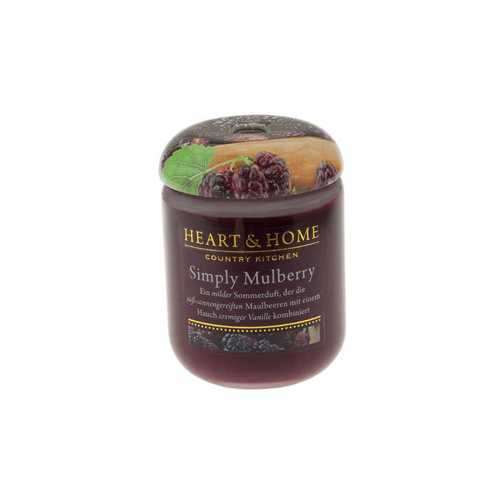 HEART & HOME Duftkerze Simply Mulberry 115 g