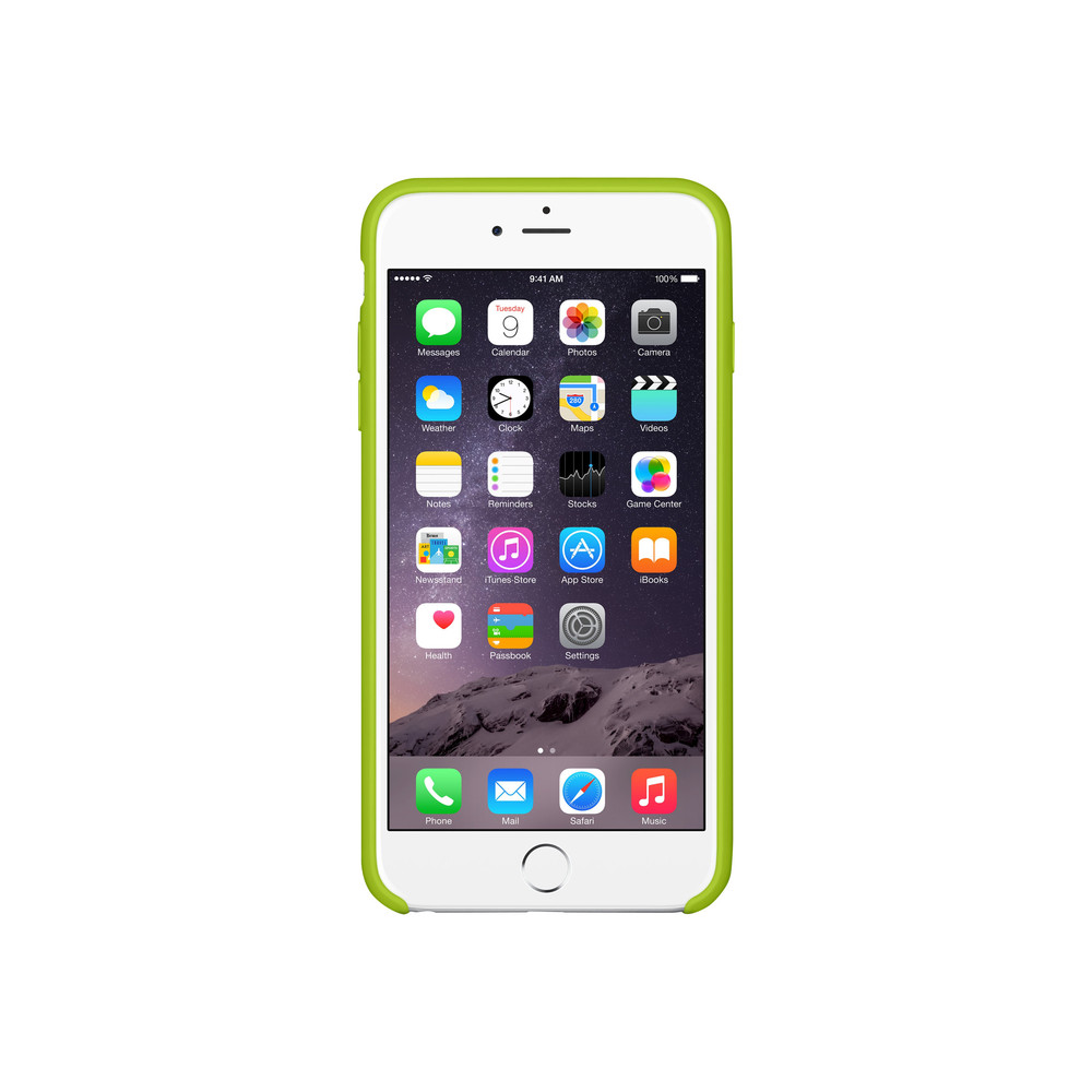 iPhone 6 Plus Silicone Case Green