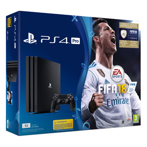 SONY Playstation 4 Pro Bundle Black Fifa 18+ DFI