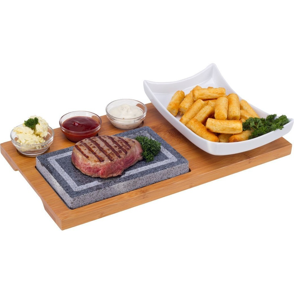 Nouvel Hot Plate Set, 6tlg, Holz Holzbre
