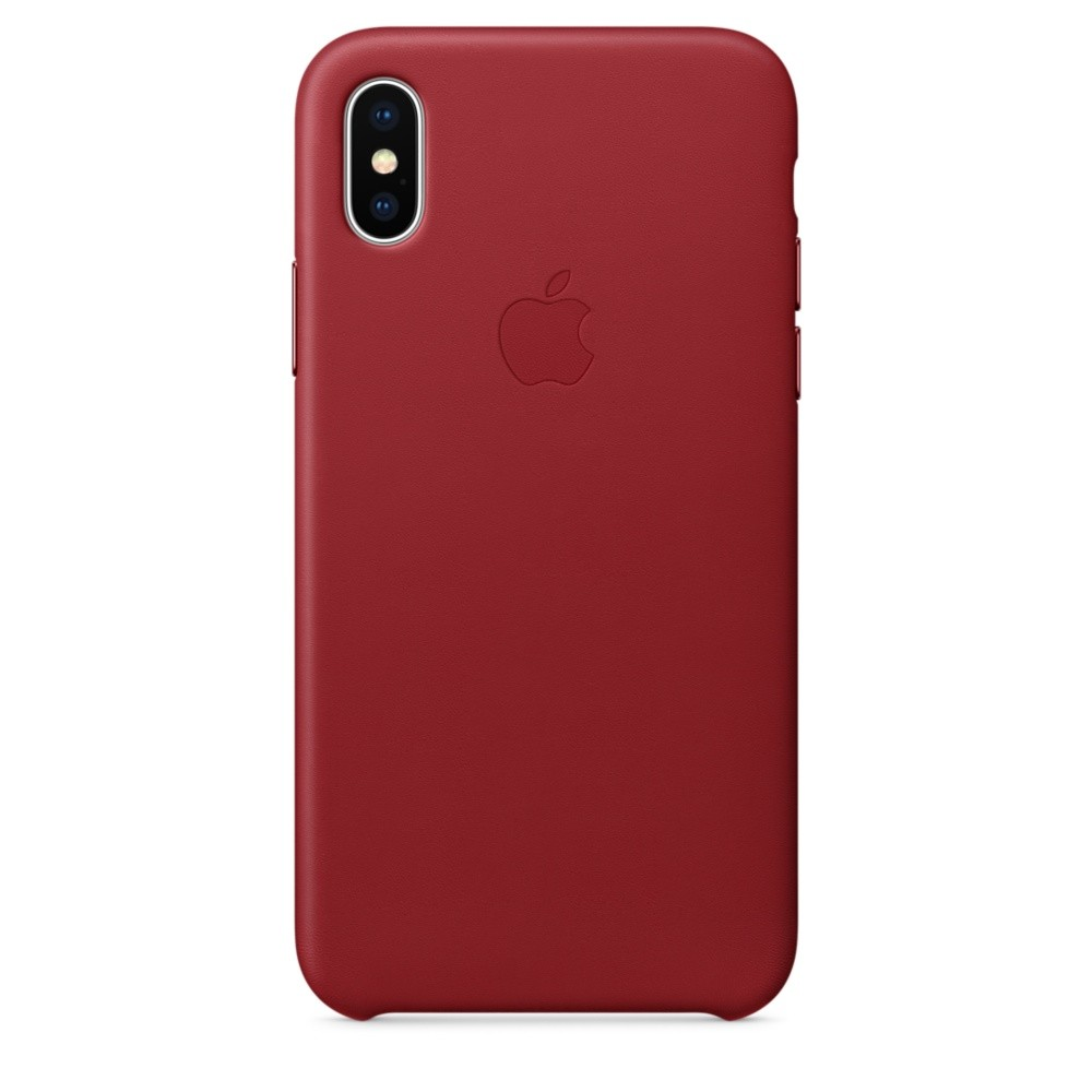 APPLE iPhone X Leder Case (PRODUCT)RED