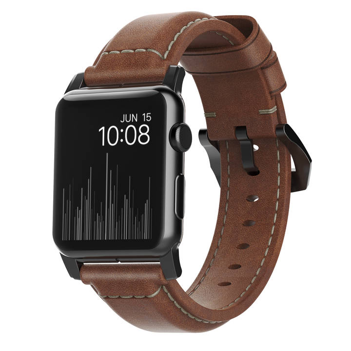 NOMAD Traditional Strap 42 mm brown/black