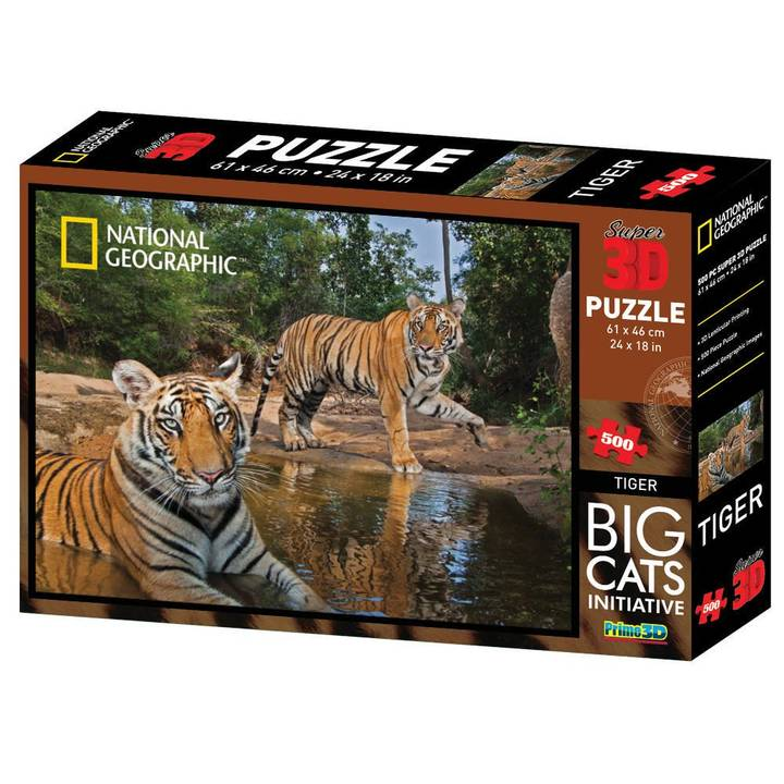 NATIONAL GEOGRAPHIC Tiger 3D Puzzle, 500 pcs.