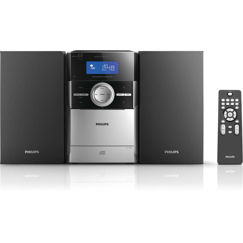 PHILIPS Micro-Hifi System MC151/12 Black & Silver