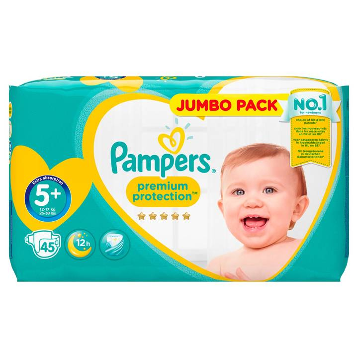 Pampers Premium Protection Gr.5+ Junior