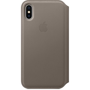 APPLE iPhone X Leder Folio Case Taupe