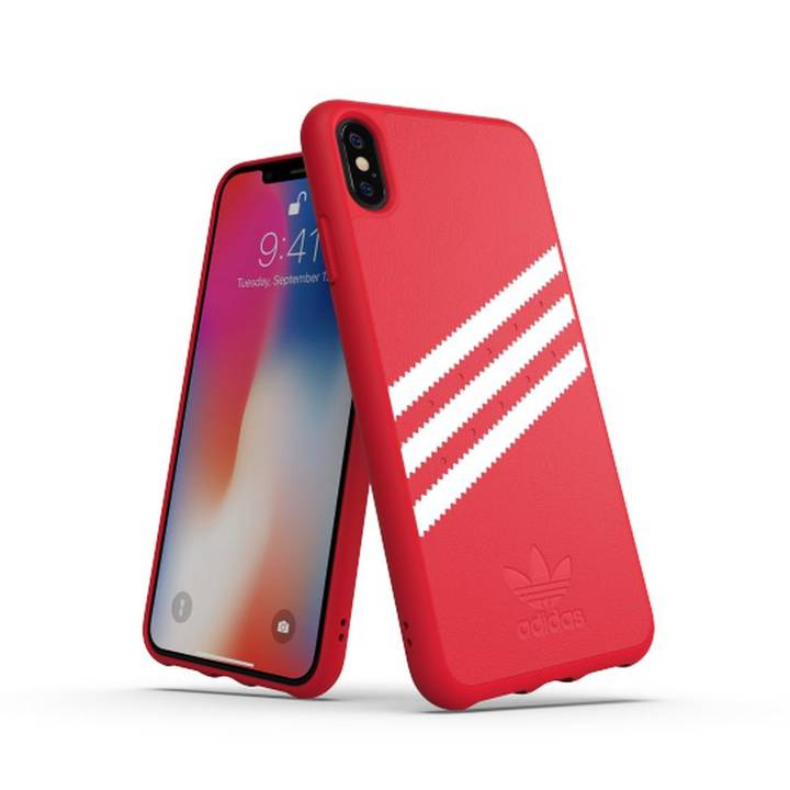ADIDAS Back Cover Moulded PU iPhone XS Max, rot