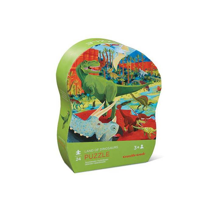 CROCODILE CREEK Dinosaurier Puzzle, 24 Stk.